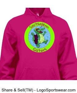 Badger Performance Fleece Ladies Hooded Sweatshirt Design Zoom